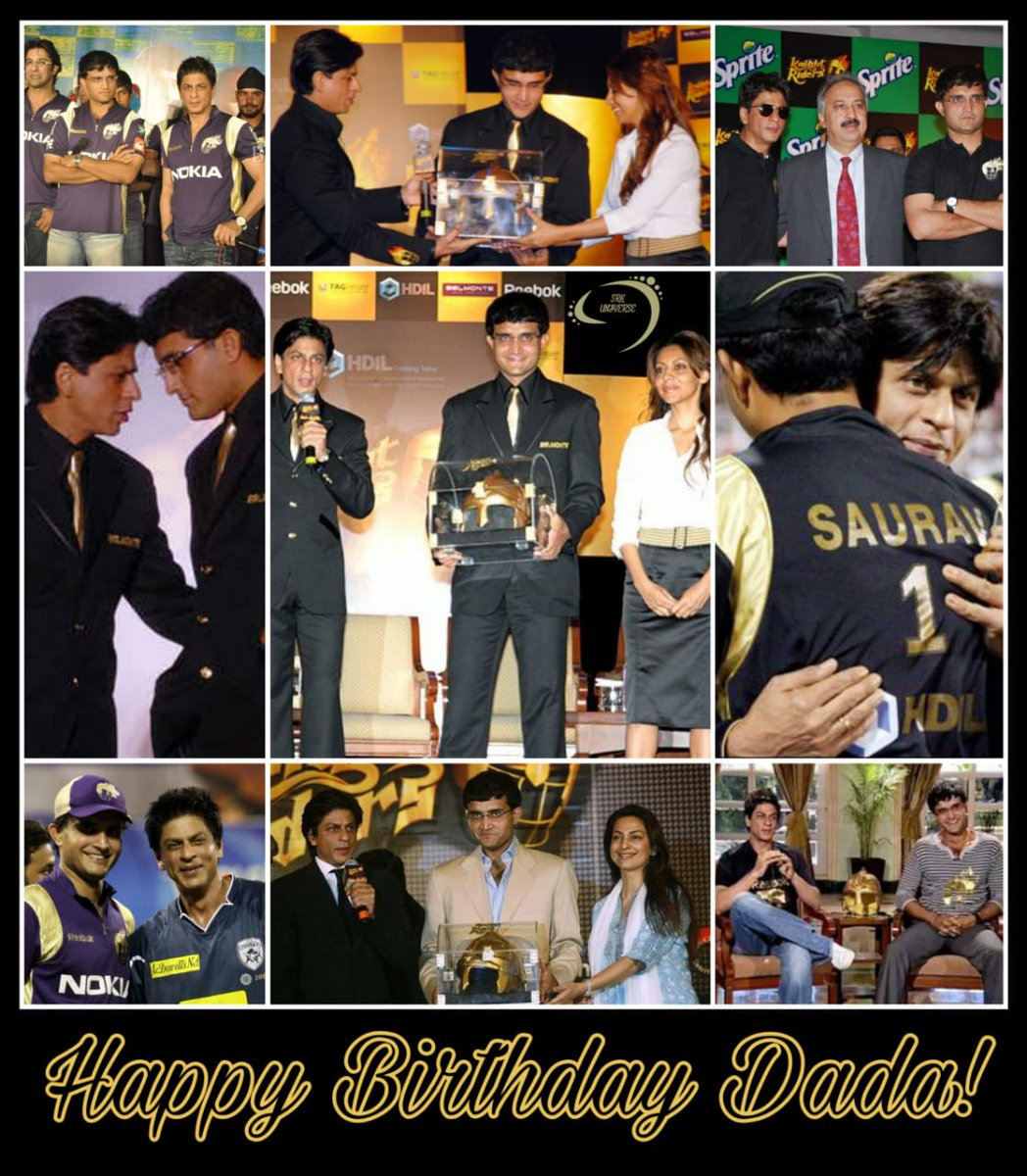 Wishing a very Happy Birthday to the first Skipper of our KKR Squad! Here are some snaps from those golden days...literally golden  #HappyBirthdayDada<br>http://pic.twitter.com/cCY7gJvsRd