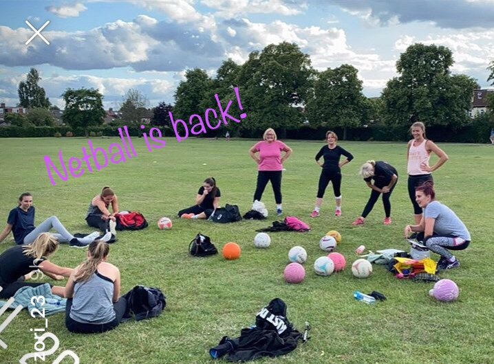 So... it's in a park, it's socially distanced and we were all totally covered in anti bac by the end but we did it!   Adult and Junior sessions from Saturday: fitness, ball drills and some skills...   #netball #community #allwelcome https://t.co/SqBpu63ccV