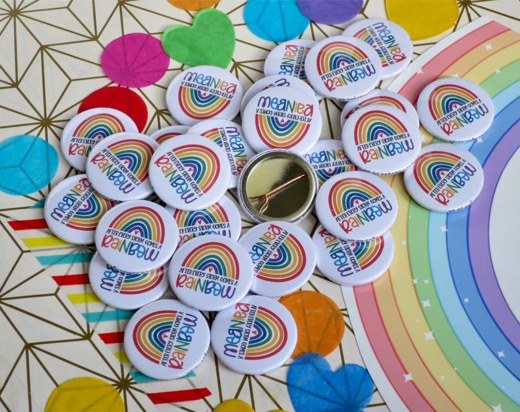 After every storm comes a rainbow badges 🌈  These badges are so bright & colourful. Perfect for schools, hospitals & care homes.  #rainbow #positivevibes #aftereverystormcomesarainbow #handmade #badges
