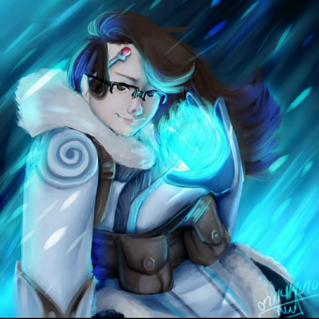 Check out Basicallywhite-babe on tumblr for more digital art! This was a custom modification she did for me of a character from Overwatch! #Overwatch #digitalart #Blue #custom #power https://t.co/FKfaByi3FY