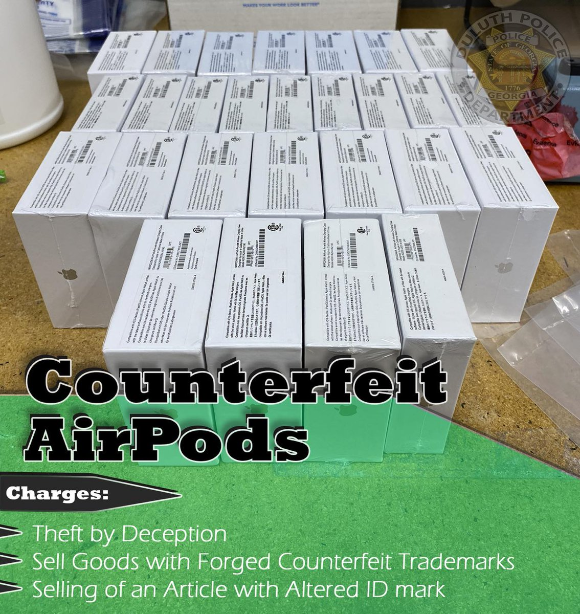 Police offer tips after a suspect is arrested for selling counterfeit AirPods https://t.co/tiGe7nWoSD #cbs46 https://t.co/udqc9VyyTC