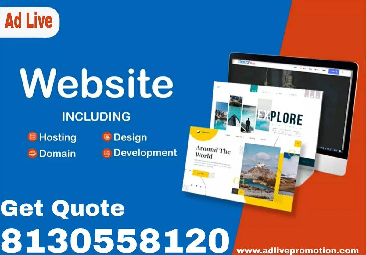 Looking for an experienced agency to design an amazing website? Your search is over. . Contact Now. 8130558120 Info@adlivepromotion.com #websitedevelopment #websitedesign #Design #enterpreneur #startupbusiness #softwaredeveloperpic.twitter.com/tliqLkbfQQ