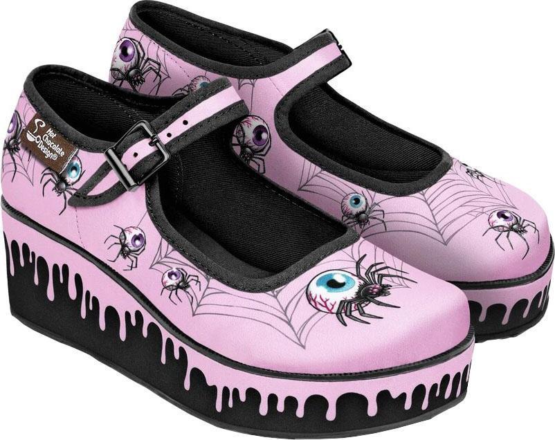 The Pink Widow Platforms by Hot Chocolate!   Find them here>> https://bit.ly/3edCmdj  #beserk #beserkclothing #hotchocolate #hotchocolatedesign #pinkwidow #widow #platforms #shoes #kawaii #alternative # pic.twitter.com/jkE9cLpBlx