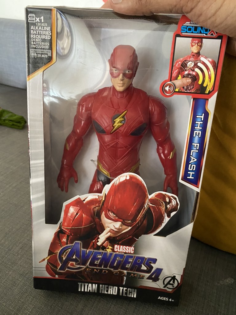 Such a gross insult to DC Universe  One of your sellers shipped Flash as a member of Avengers and we are offended by the packaging @amazonINpic.twitter.com/7GeAL10lcH