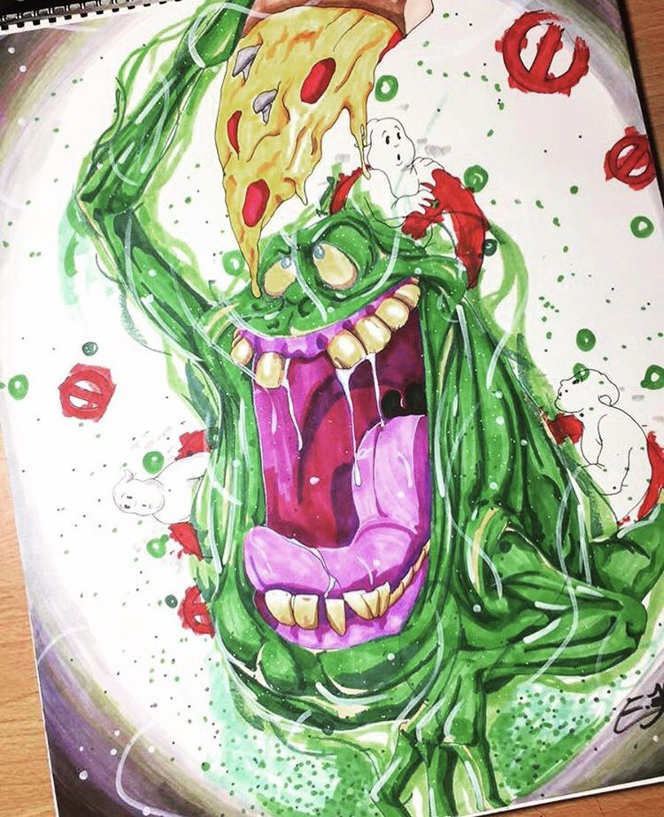 #BLACKOUTDAY2020 #drawingwhileblack #draw #ArtistOnTwitter #art #artph #artistsoninstagram #artistic #Ghostbusters #BillMurray #fanart #painting #Halloween #drawing #slimer   First time doing Ghostbusters art and it was for my godsons birthday. He loves slimer!