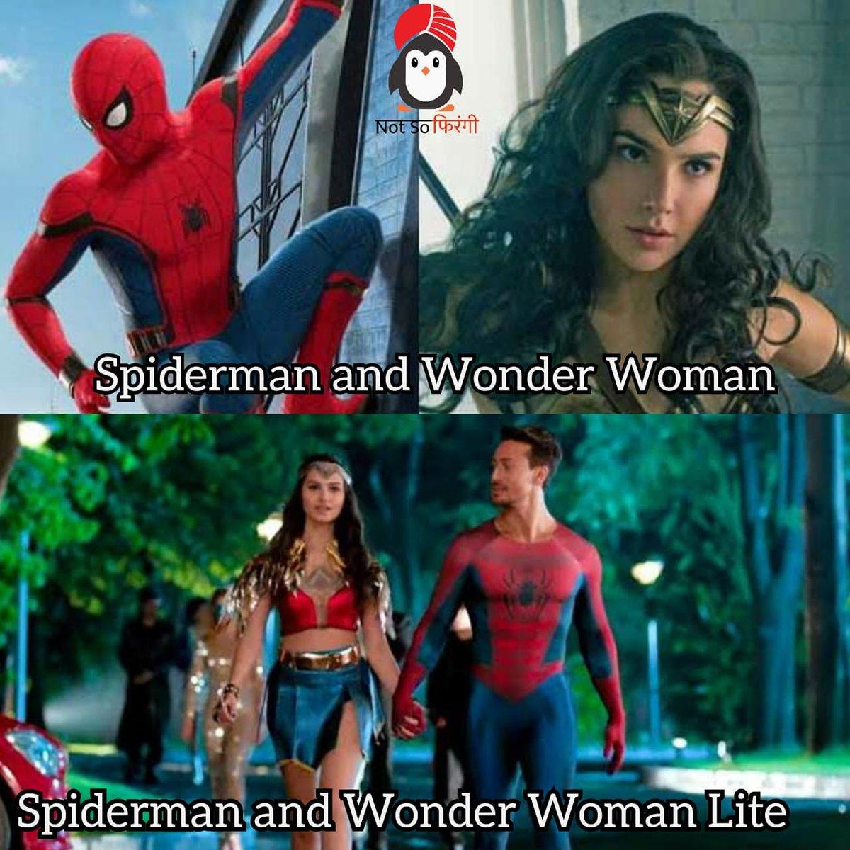 #notsofirangi #spiderman #WonderWoman #dccomics #AvengersEndgame #AvengersInfinityWar #DCUNIVERSE #memesdaily #IndiaFightsCorona #Funniestmemes #FunniestTweets #bollywood #NepotismEndsin2020 #NepotismBollywoodpic.twitter.com/qfCLdNrE6t