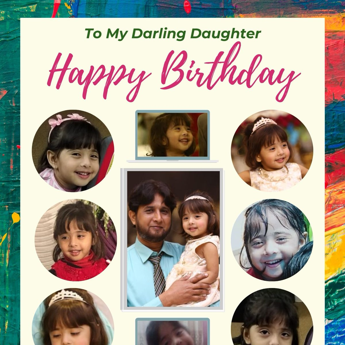 Alhamdolilah My Beloved Daughter Turned to 04 Year Today 🎂Happy Birthday🎂 To My Darling ♥️ Aaleen Fatima ♥️ May you forever sparkle & shine like star that you are You are always loved sweetheart I love you my angel  #HBDAaleenFatima #Islamabad #Pakistan #11thHour #Edhi #Qatar https://t.co/p4fBixddEv