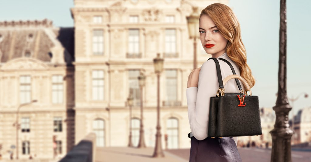 Classically elegant. #EmmaStone embodies the spirit of the Capucines in the #LouisVuitton New Classics Campaign, photographed by #CraigMcDean. See more with #AliciaVikander and #LeaSeydoux at http://on.louisvuitton.com/6011GrK0fpic.twitter.com/SnLiHTGY8L