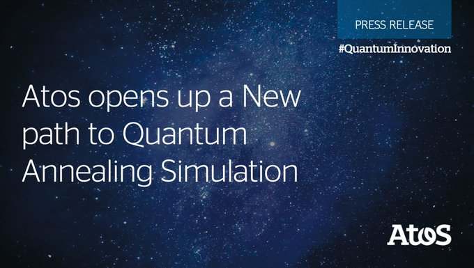 Atos announces the development of a new #Quantum Annealing Simulator, becoming World's first...