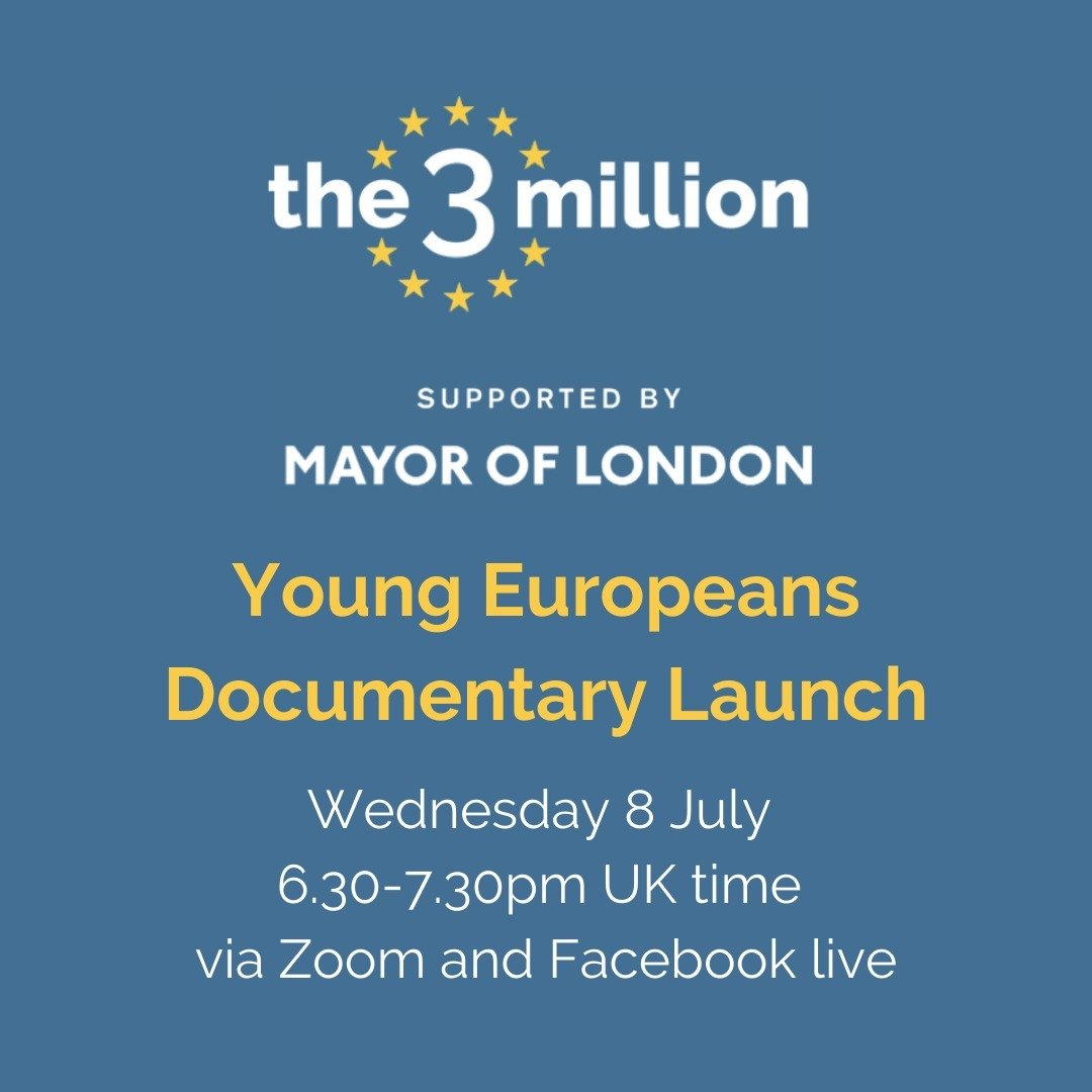 There are still many EU citizens who can miss out on their rights. Join @the3million today at 6.30 pm for an online screening of our Young Europeans documentary, followed by a discussion on #citizensrights. Register for the event here: us02web.zoom.us/meeting/regist…