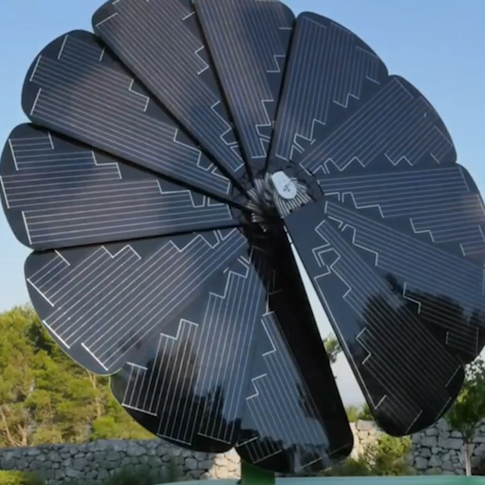 These solar panels are designed to absorb energy like a sunflower