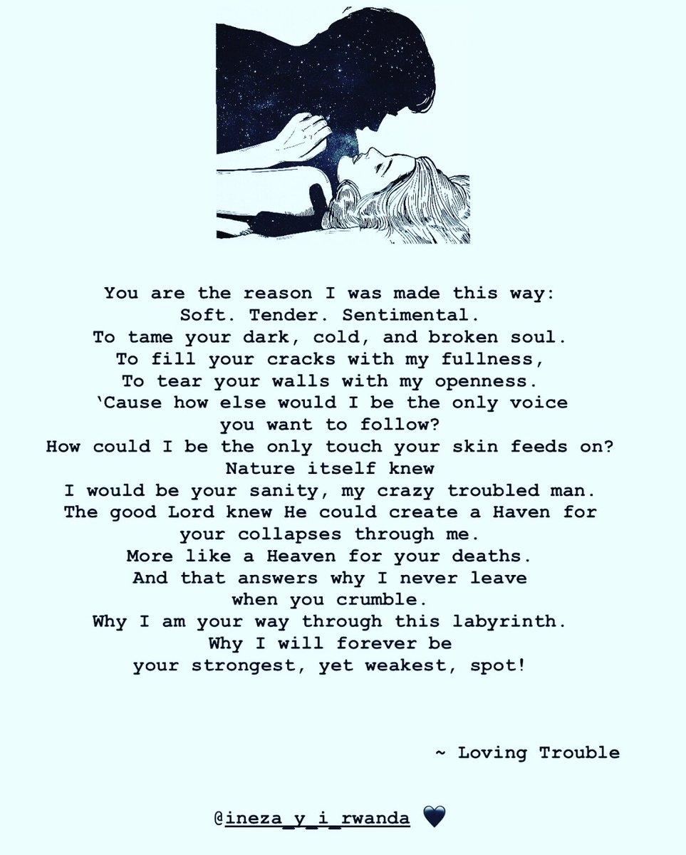 Loving Trouble  —————————————————— A poem by @ineza_lutgardis  —————————————————— Follow ineza_y_i_rwanda on Instagram for more  —————————————————— #RwOT #poetry #poetrycommunity <br>http://pic.twitter.com/M1nUWE7w6j