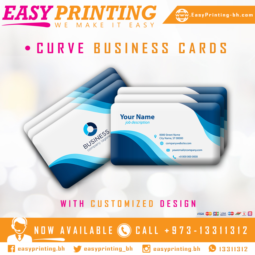● Get your Curve Business cards printed in high-quality colors with Our Free Design and Free Delivery Service! #EasyPrinting #WeMakeItEasy #Bahrain #Riffa #Manama #Hidd #Muharraq #Zallaq #Hamadtown #Arad #Isatown #Amwaj #Hamala #Juffair #Busaiteen https://t.co/1vJjoyaBhr