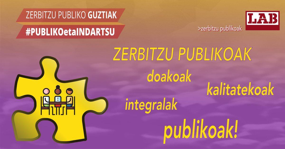 ❗️ZERBITZU PUBLIKOAK · Doakoak · Integralak · Kalitatekoak · PUBLIKOAK!!!  #PUBLIKOetaINDARTSU ✊ #baduguAUKERA https://t.co/on4ATRFvKT