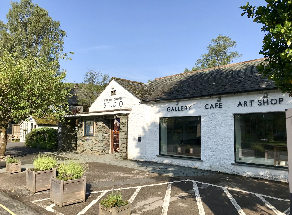 Great news for the Heaton Cooper Studio and its lovely cafe Mathilde's in #Grasmere, #LakeDistrict. They're both re-opening today (July 8). @HeatonCooper @MathildesGras @FeatureCumbria @grasmerevillage #artists #landscapepainting #cafe pic.twitter.com/iCEL77Yy28
