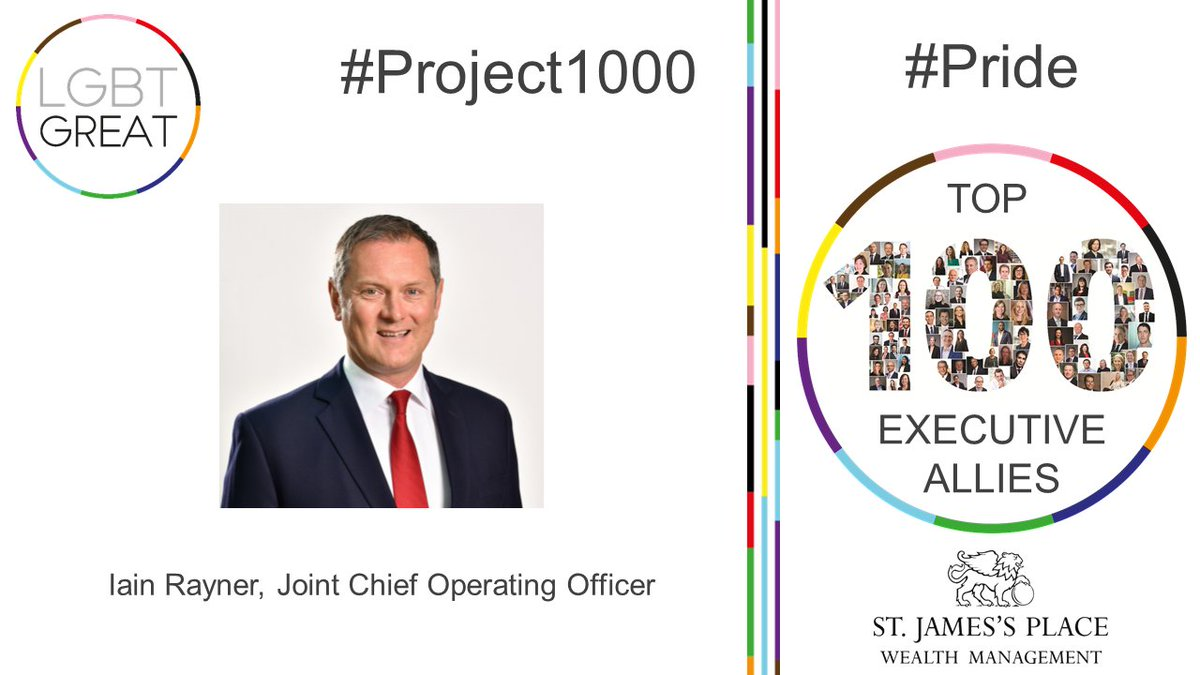 """Developing allyship between employees of all diversities is critical in the modern world work and a principle I believe profoundly in"" - Iain Rayner, Joint Chief Operating Officer, @sjpwealth #Project1000 #Pride #YouMeUsWe https://t.co/h4zmZbRJwZ https://t.co/EfxMPN9cLL"