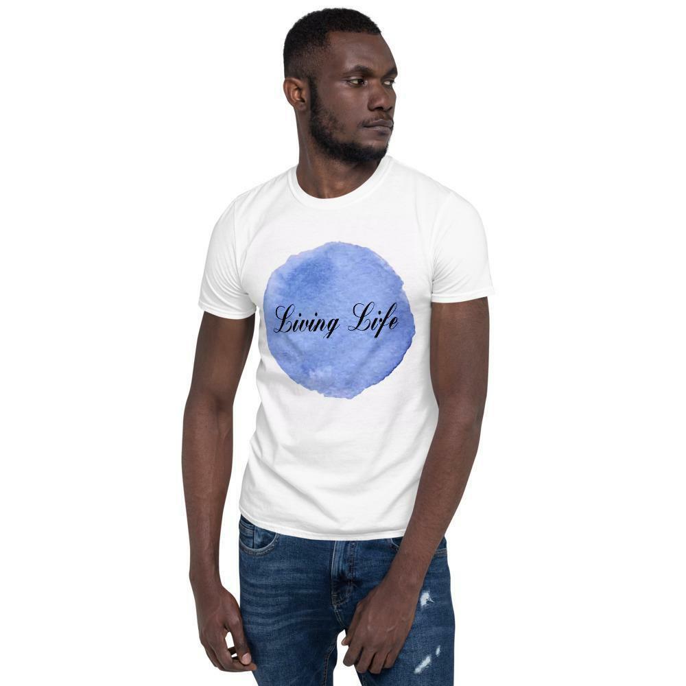"Standard Short-Sleeve ""Living Life"" Max Unisex T-Shirt#art #l #photoshoot #lifestyle #instafashion #love #instagood #fashionblogger #fashion #happy"