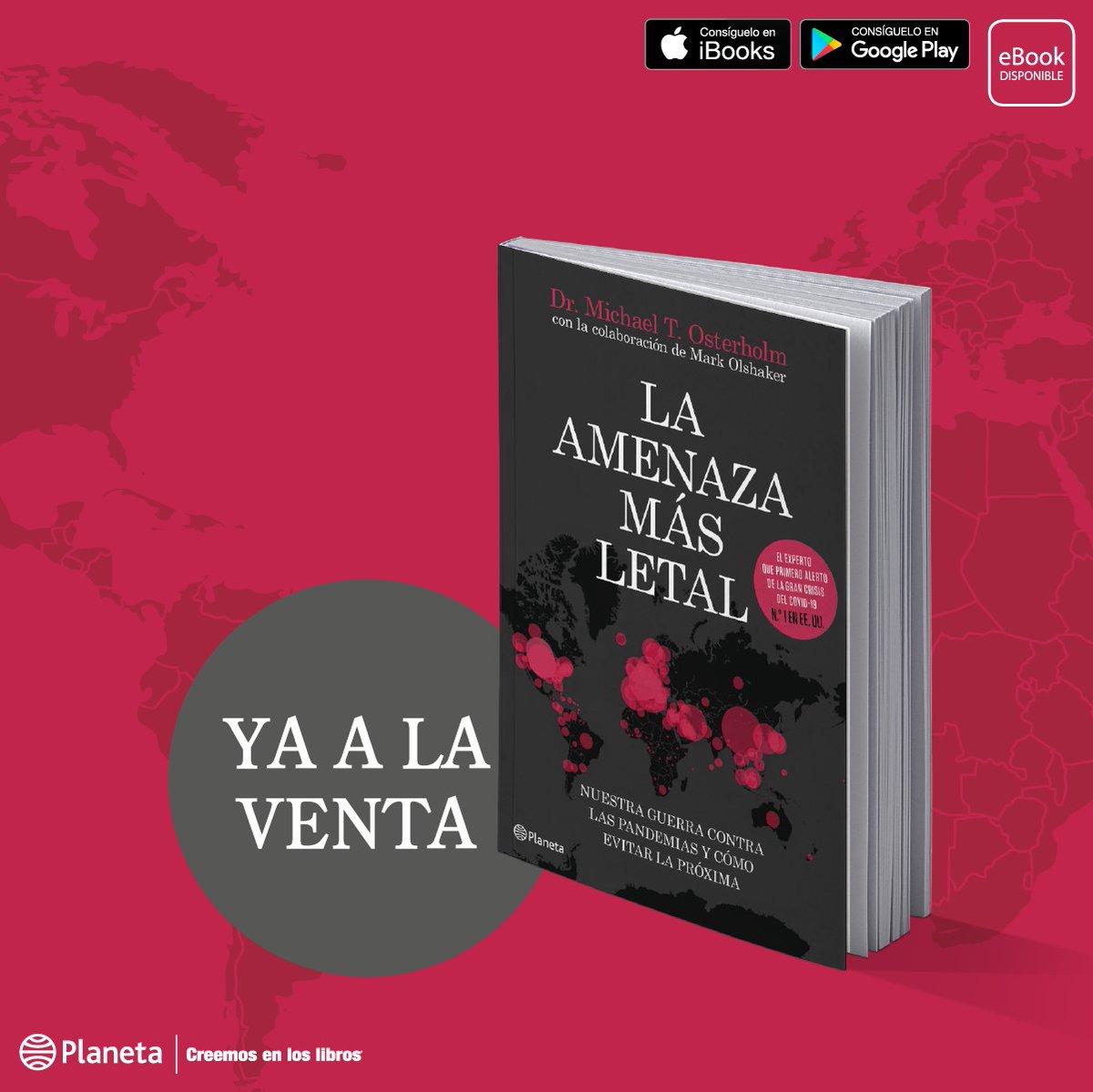 """Llega a Chile el libro que predijo la pandemia.  Encuentra en librerías, venta online y formato ebook: """"La amenaza más letal"""". #CreemosEnLosLibros #KeepReadingenCasa pic.twitter.com/pRQ7ffulYS"""