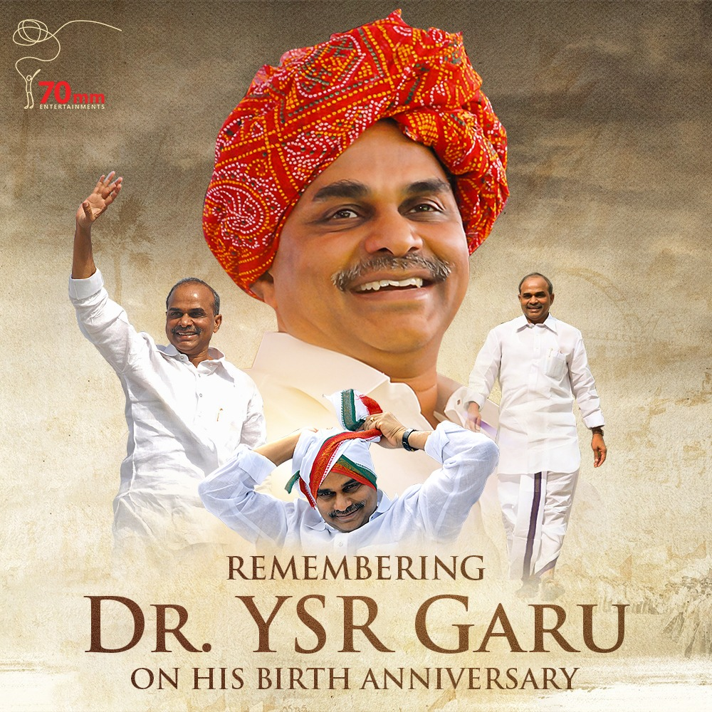 Very few will be loved forever and will remain as inspiration for generations. Remembering the most loved Mahanetha Shri. YSR Garu on his Birth Anniversary. Proud we could tell his story. #LegendYSRJayanthi #YSRLivesOn #YSRForever<br>http://pic.twitter.com/5WYelgVEGn