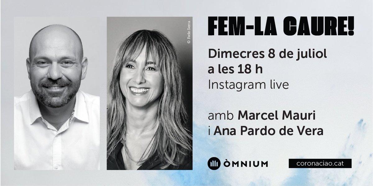 Aquesta tarda a les 18 h el vicepresident @marcelmauri i la periodista @pardodevera faran un Instagram Live a través del perfil d'@omnium! 📲  💬 Parlarem dels escàndols de corrupció de la monarquia que s'estan destapant aquestes setmanes, la campanya #CoronaCiao i molt més! https://t.co/S9qa34i9EI