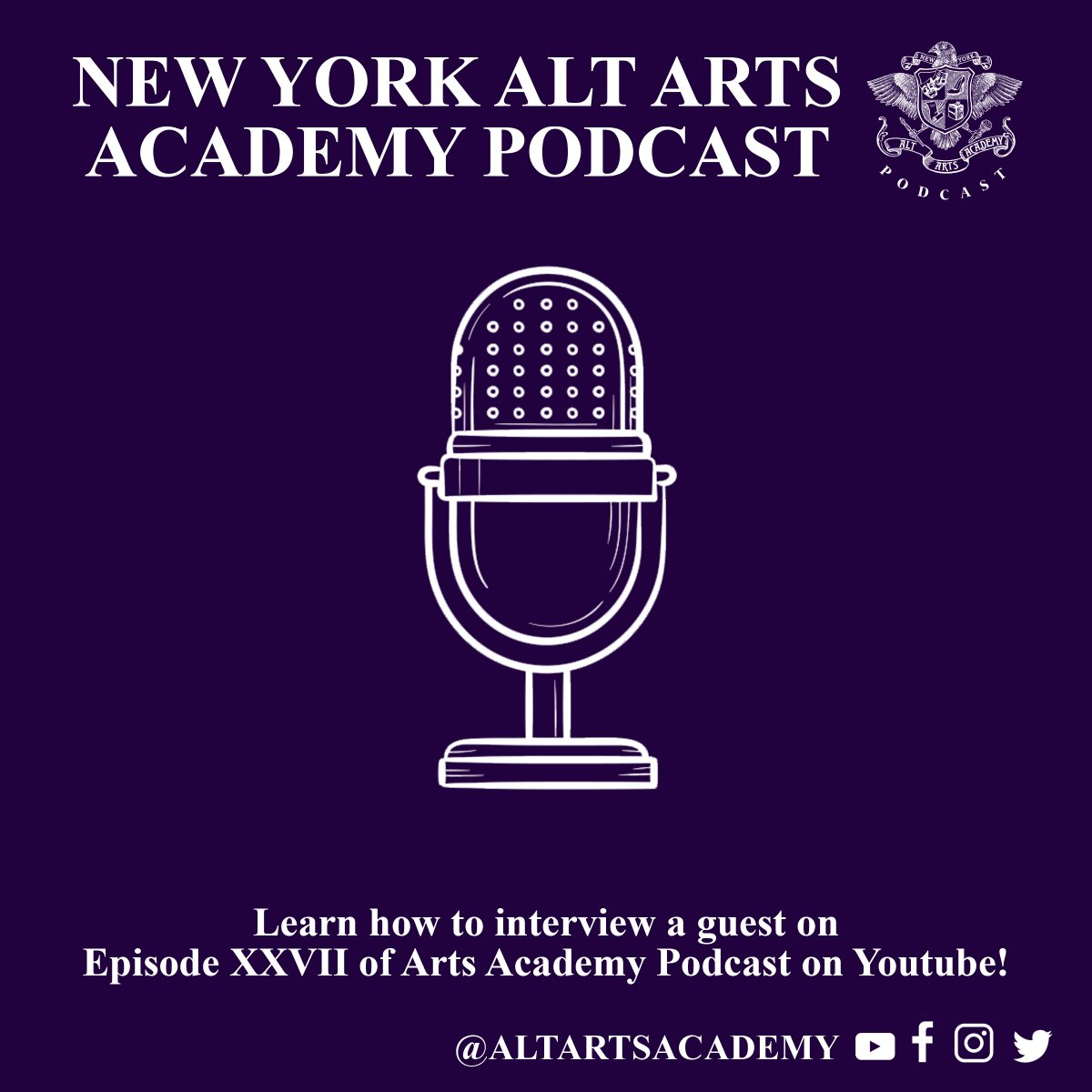 Want to learn how to interview a guest? Learn how in episode 27 of Arts Academy podcast with @varnado, @roxxyhaze and special guest @RealJasminLeigh!  Watch the full episode here: https://youtu.be/17eYkdST6r8  Want the audio only version? Listen here http://artsacademypodcast.compic.twitter.com/EqV6YsGyxQ
