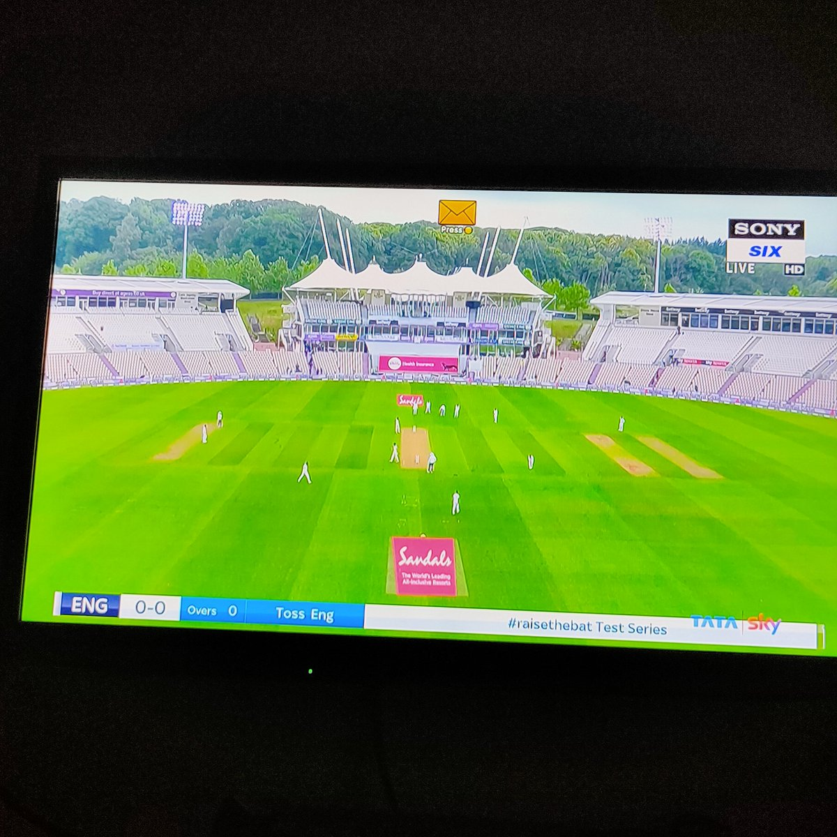 Finally the day has arrived .  #ENGvsWI  #TestCricket <br>http://pic.twitter.com/0UXG4JJ9QG