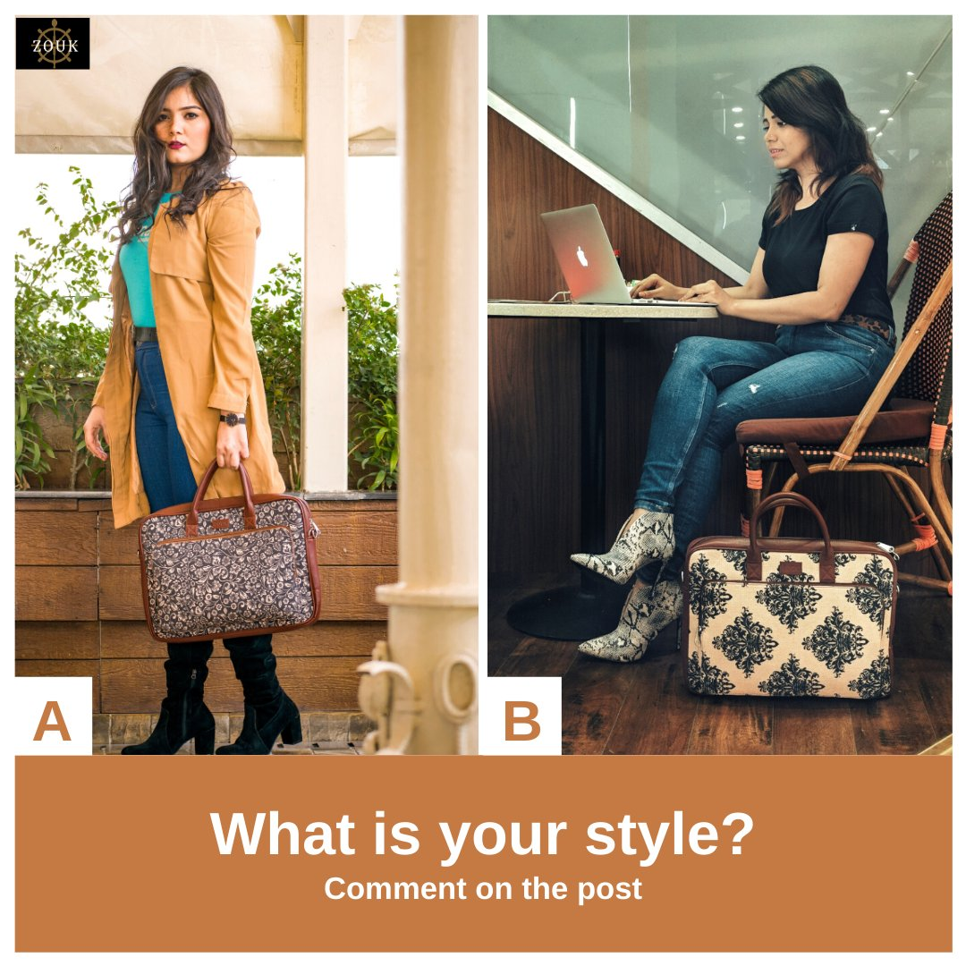 Formal or Casual - how would you like to style our laptop bag? Drop your answer in the comment section below.  Check out our laptop bags collection https://zouk.co.in/collections/laptop-bags…  #officebags #onebagforall #zoukbags #veganbags #veganleather #govegan #crueltyfree #crueltyfreefashionpic.twitter.com/YNbSvFzos6
