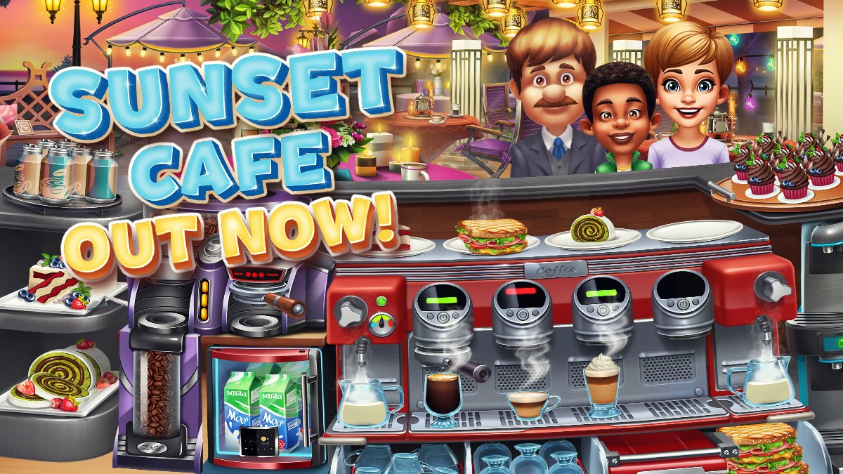 Our new Cooking Fever's location Sunset Cafe is out NOW! https://t.co/Da1wFrAqvT https://t.co/M56i6VeTcP