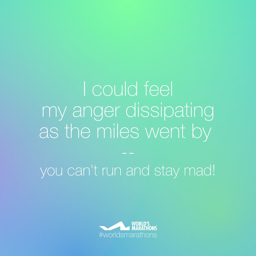 Running is a very effective anger management technique. It is also said that running can help us to cope with anxiety, stress, and even depression How does running affect your mood and mental status? #worldsmarathons #motivationquote #runningmotivation #running #angermanagementpic.twitter.com/HzblQPpU4x