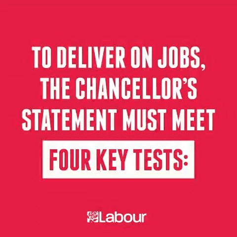 To deliver on jobs, the Government must meet @UKLabours four key tests. #SummerStatement
