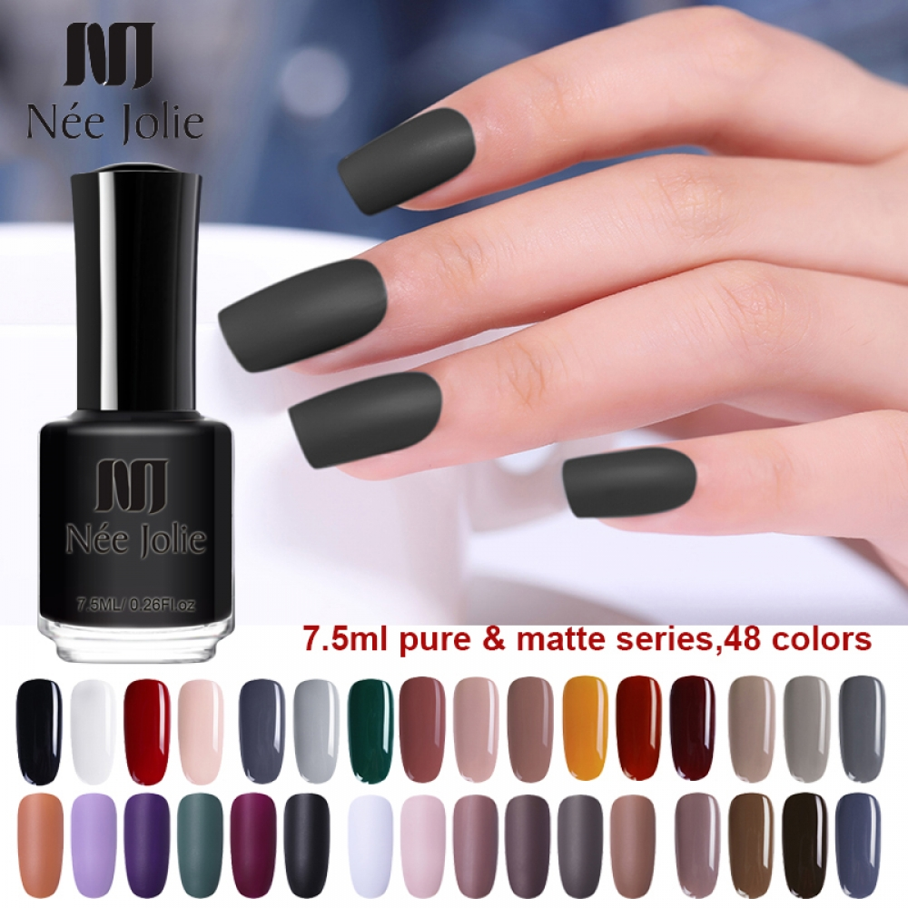NEE JOLIE 7.5ml Nail Polish Varnish Matte Pure Color Series Nail Lacquer Varnish Manicure Fast Dry Nail Polish for Nail Art http://www.colourglobeauty.com/nee-jolie-7-5ml-nail-polish-varnish-matte-pure-color-series-nail-lacquer-varnish-manicure-fast-dry-nail-polish-for-nail-art/… #health|#beauty|#lifestyle|#wellbeingpic.twitter.com/MV7SoW9hzX