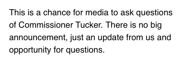 Email response from the NCHSAA about today's 11 a.m.  press conference. No big announcement, which is what was expected. https://t.co/no4BGAEXKc
