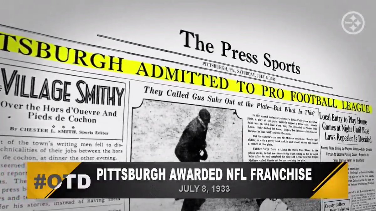 #OTD in 1933, #SteelersHistory began.