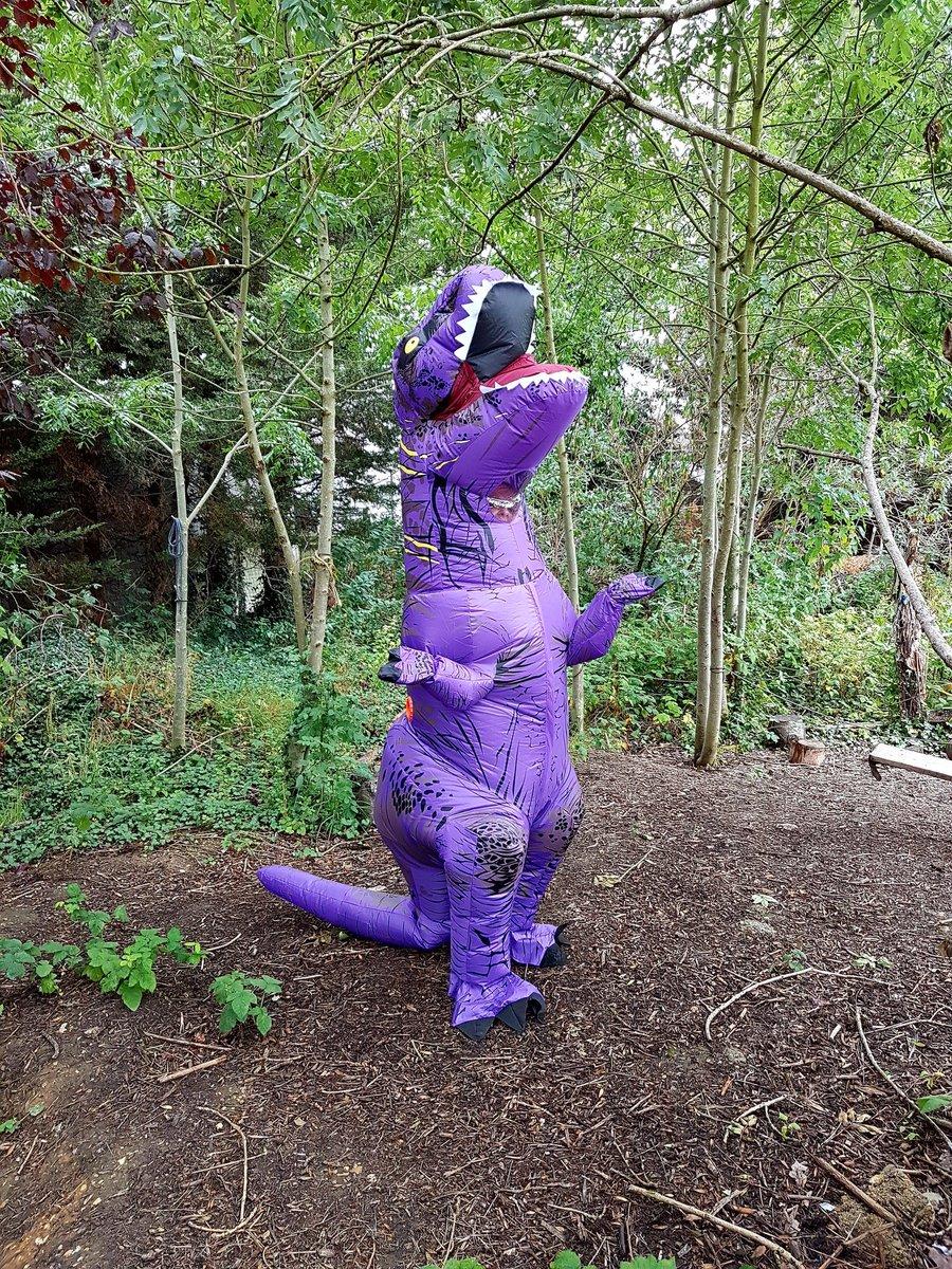 Look who nursery found on their dinosaur hunt! #EYFS