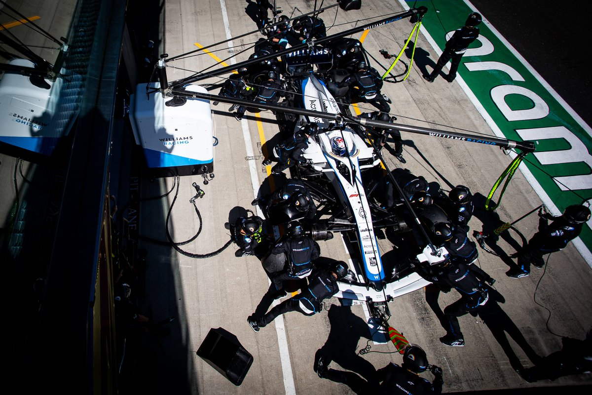 2.44s and the second fastest pitstop on Sunday 🥈  Seven months without a race but our pitcrew have lost none of their sharpness 👏  #AustrianGP 🇦🇹 | #WeAreWilliams 💙 https://t.co/Mr5x2CbiSd