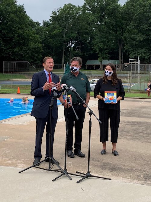 As summer heats up & people spend more time in the pool, I joined Stew & Chase Leonard, who faced unimaginable personal tragedy in the drowning death of their son/brother Stewie, to remind parents & guardians to take all precautions to keep kids safe while swimming. https://t.co/2rBZlX4T1w