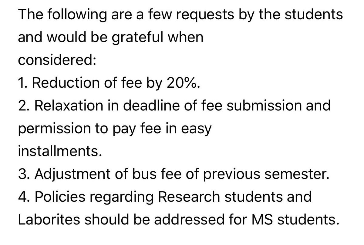 We are not using university's electricity, internet, library, transport and other facilities So fee reduction is our right #ComsatsReduceFee #FawadChaudhry pic.twitter.com/q8W586VtBk