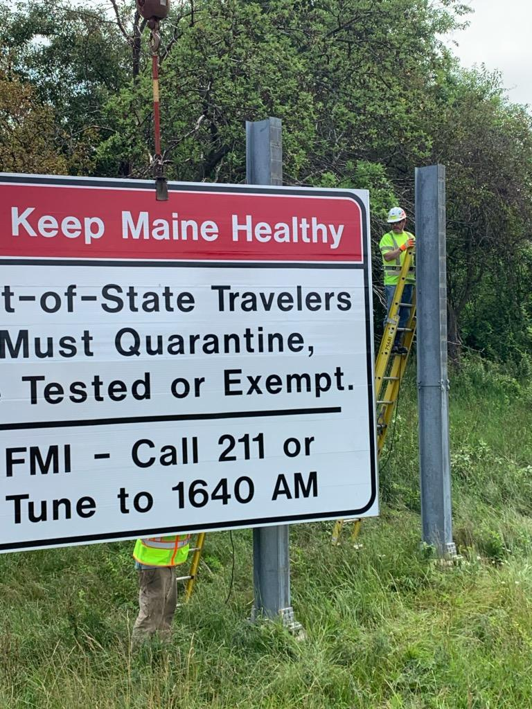 Image posted in Tweet made by MaineDOT on July 8, 2020, 1:00 pm UTC