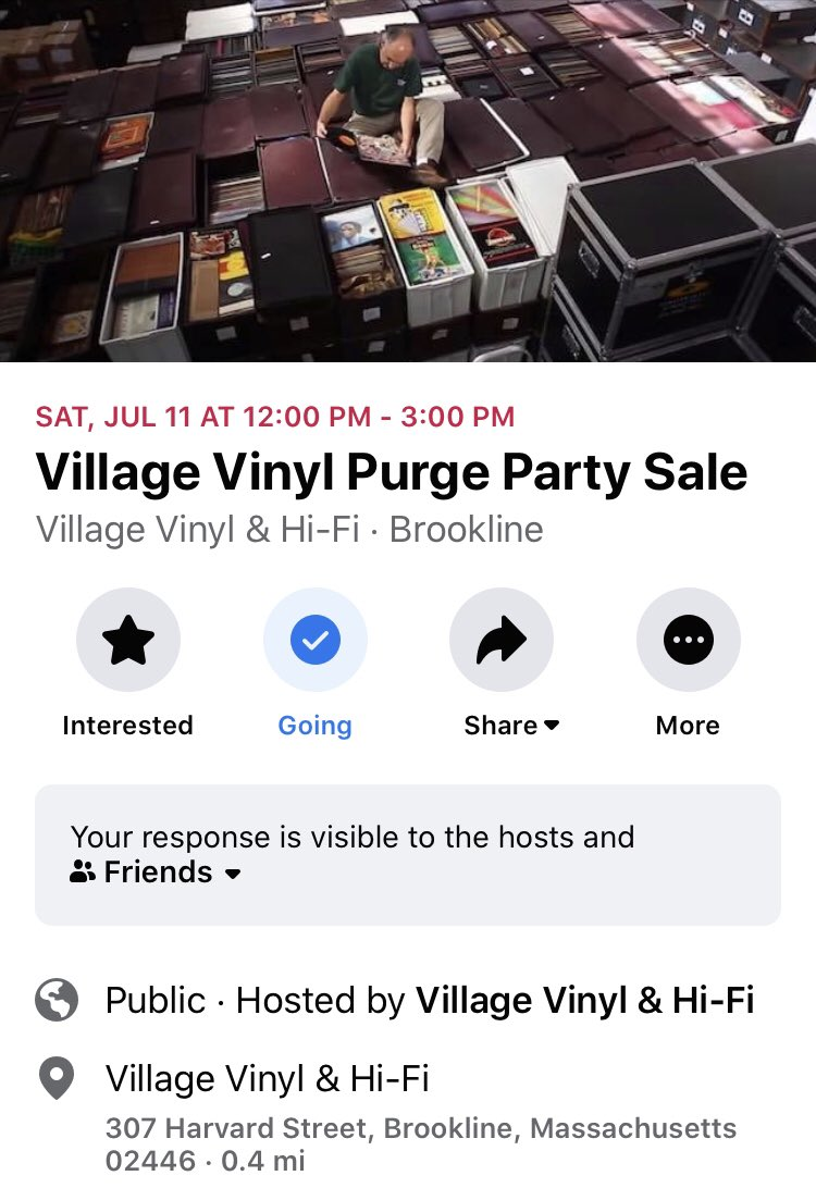Village Vinyl in Brookline is having a huuuge record sale this Saturday July 11th from 12pm - 3pm. Bring your Mask and gloves. #boston #brookline @BostonTweet