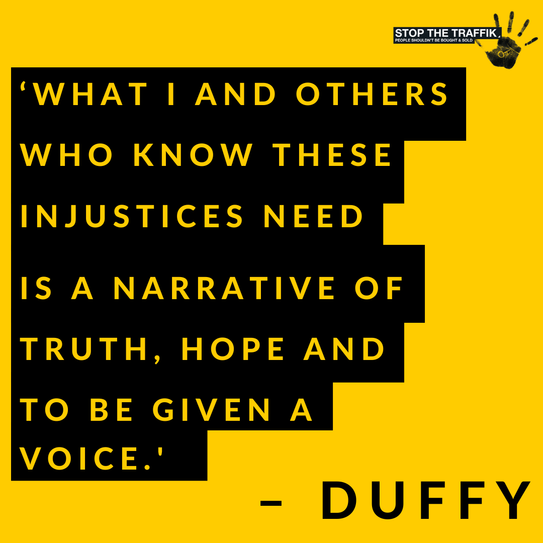 Earlier this week, Welsh singer-songwriter #Duffy called for an end to films which 'glamorize the brutal reality of sex trafficking, kidnapping, and rape'. Read more about the damaging misinterpretations of trafficking in film here: buff.ly/39jRDaH #endhumantrafficking