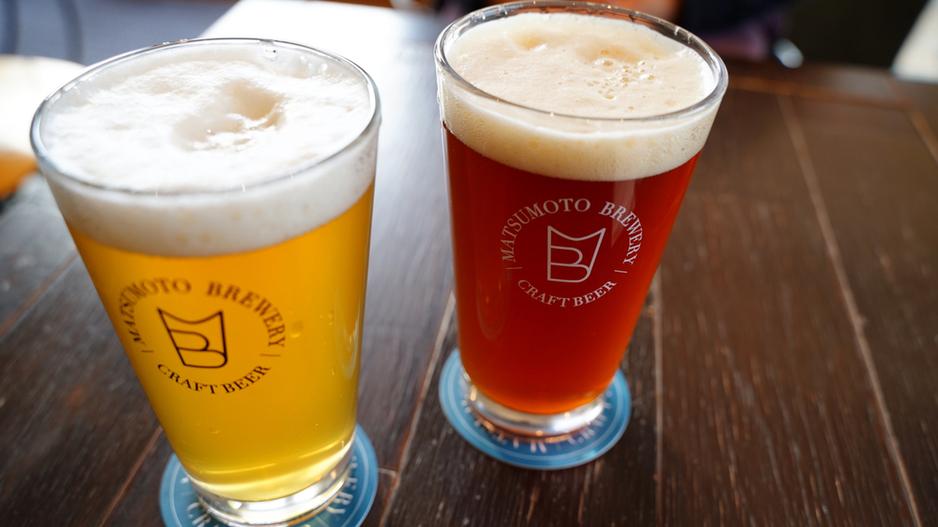 【ビアバー 松本ブルワリータップルーム 本町店】松本市中央の信毎メディアガーデンにある松本発のクラフトビールバーパイントサイズは地ビールとしてもコスパ抜群です!カフェ風で展望良いテラス席も!#長野 #長野県 #松本 #松本市 #グルメ #食べログ #松本ブルワリー