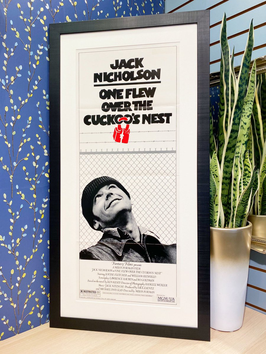 ONLY THE BEST for this vintage poster. Acid free mounting and backing, and ART glass for superior clarity, low reflection and UV protection. Framed in Brooklyn Black xx  @MainlinePolcore  @Groglass  #framing #art #poster #movie #smallbusiness #shoplocal #handmade