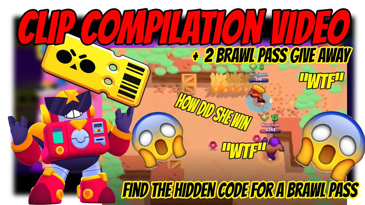 2 BRAWL PASS GIVEAWAY To enter like and subscribe 1 point each. Send me the hidden code in the video on discord + 2 points. Commenting on video + 1 point Good luck https://youtu.be/v-W9wTJywqY  #brawlstarsglobal #brawlstarsmemes #brawlstarsandroid #BrawlPass #giveawaypic.twitter.com/iVFwbZuGpo