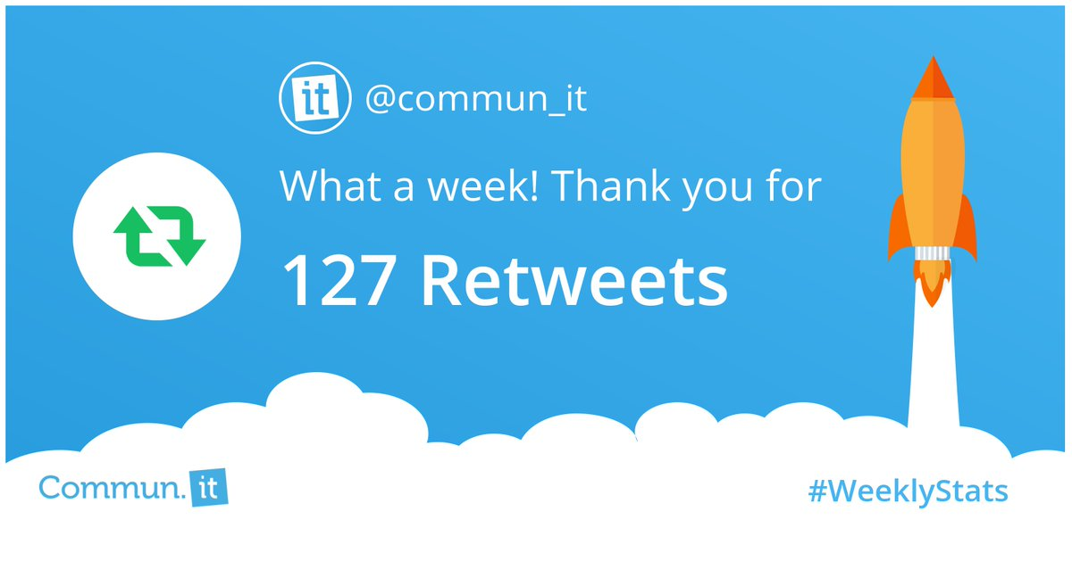 Check out our Twitter activity this week! 👉🏻👉🏻👉🏻What's yours? Find out with commun.it/create-account…