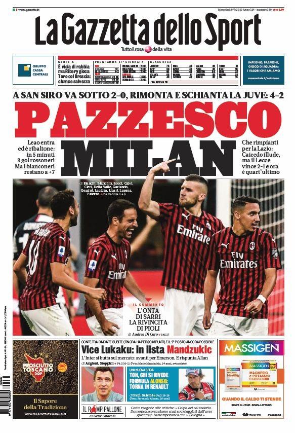 İtalya'da manşetler Milan https://t.co/2CzGcqYpEn