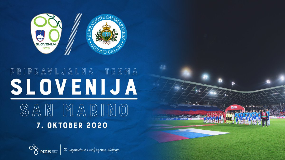 🇸🇮 Slovenska nogometna reprezentanca bo 7. oktobra odigrala pripravljalno tekmo s San Marinom. 👉 https://t.co/WUAQBESLMV  #SrceBije @FSGC_official https://t.co/lSfdrbbMFw