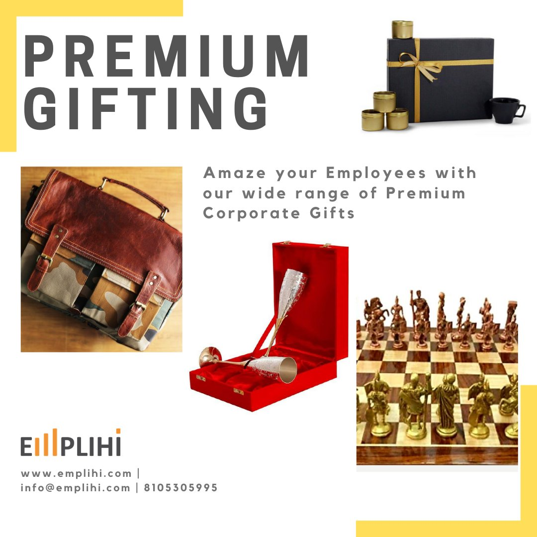 Premium gifts for your employees and clients. Check out our Corporate Gifts :- https://www.emplihi.com/corporate-gifting … #teamwork #teambuilding #virtualengagement #egifting #employeeEngagement #rewardspic.twitter.com/tlfXzAWzMK