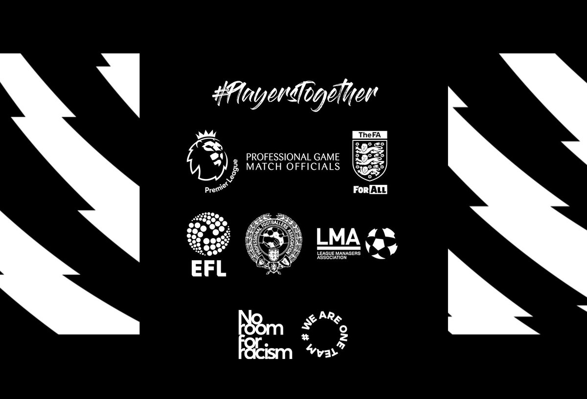 https://t.co/n70ceFV0yr @premierleague #PlayersTogether #NoRoomForRacism #WeAreOneTeam https://t.co/VmTfoDROPb