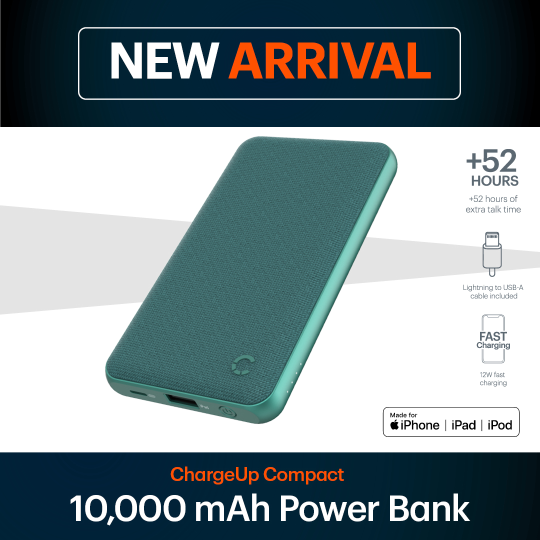 Introducing our latest power bank, the ChargeUp Compact 10K - made for iPhone, iPad & iPod! ⁣Check out images for all of the amazing features, get yours at http://bit.ly/chargeup10k .⁣ #cygnett #tech #powerbank #lightningcable #iphone #madeforiphone pic.twitter.com/2URPb6Lsm8