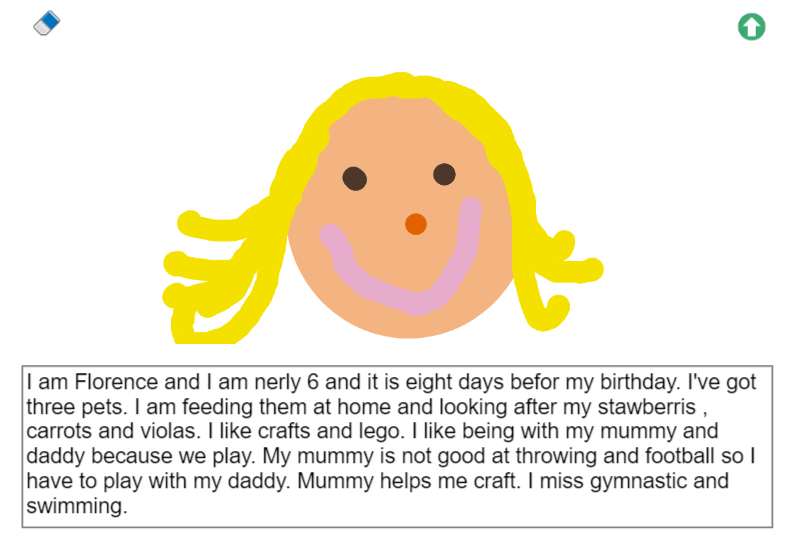 Florence in Y1 has been writing to her new teacher on Purple Mash this morning. Well done, Florence, it's very detailed. #homelearning pic.twitter.com/zrKpdKcXIQ